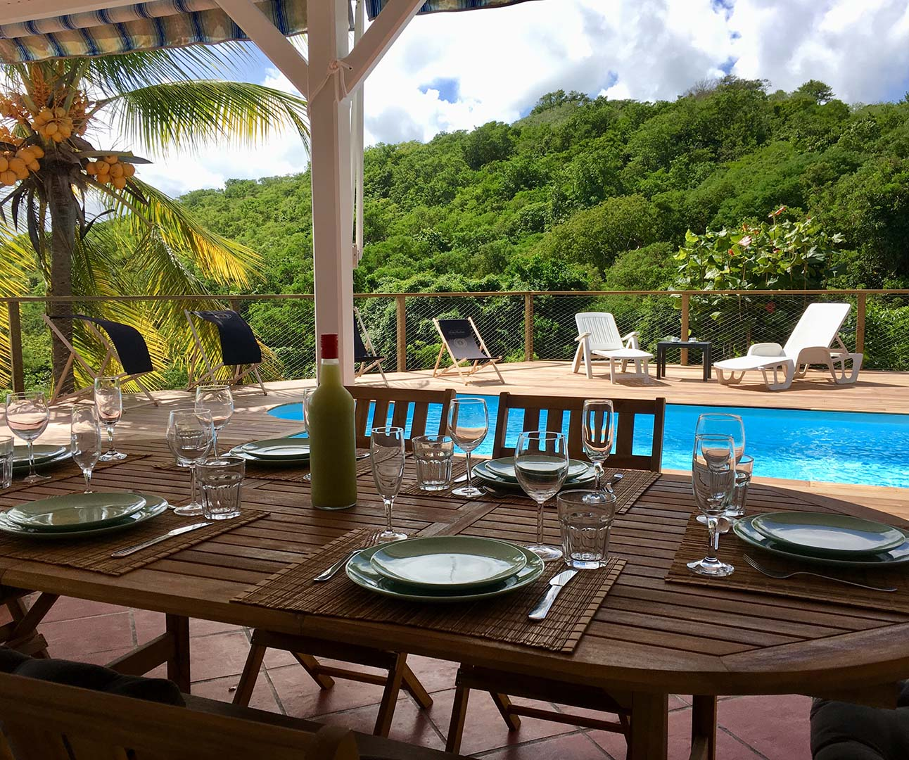 location villa martinique - parking, piscine, terrasse, climatisation, barbecue, 6 personnes